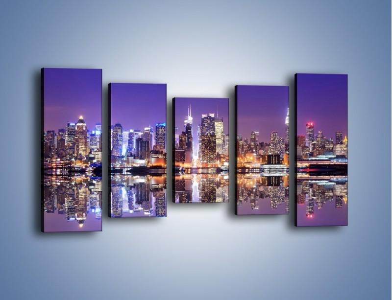 Obraz na płótnie – Panorama Midtown Manhattan – pięcioczęściowy AM492W2