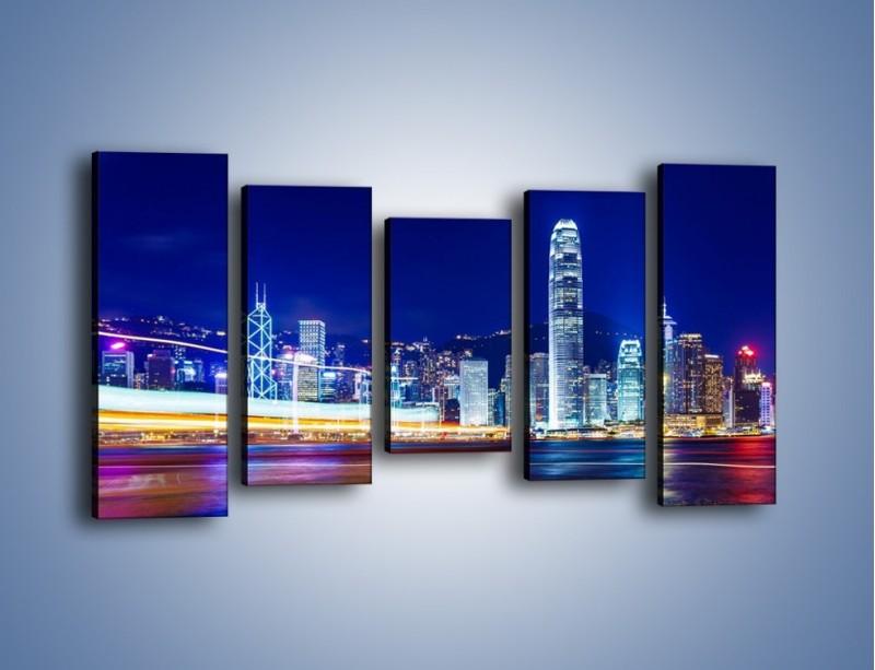 Obraz na płótnie – Panorama Hong Kongu – pięcioczęściowy AM499W2
