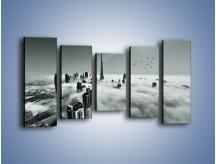 Obraz na płótnie – Centrum Dubaju we mgle – pięcioczęściowy AM502W2