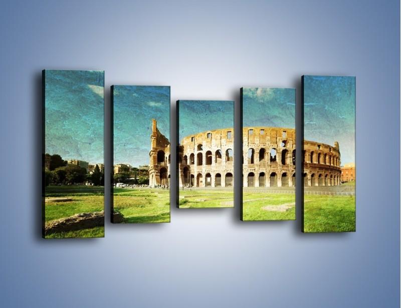 Obraz na płótnie – Koloseum w stylu vintage – pięcioczęściowy AM503W2