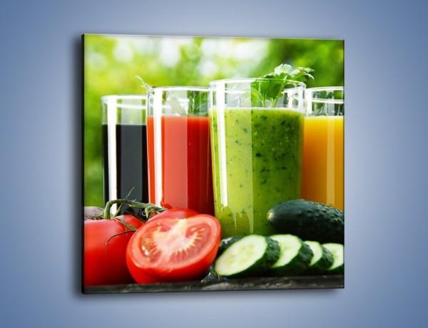 Obraz na płótnie – Pożywne warzywne smoothy – jednoczęściowy kwadratowy JN673