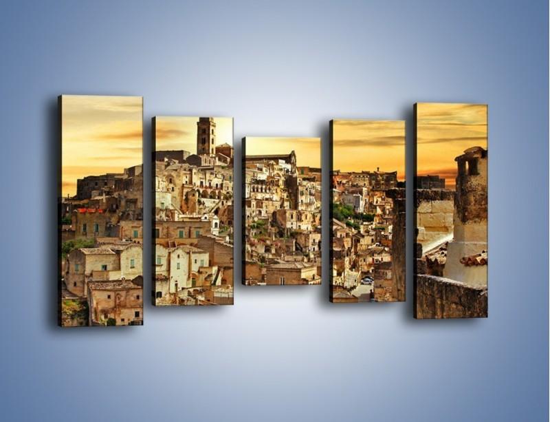 Obraz na płótnie – Matera – miasto wykute w skale – pięcioczęściowy AM517W2