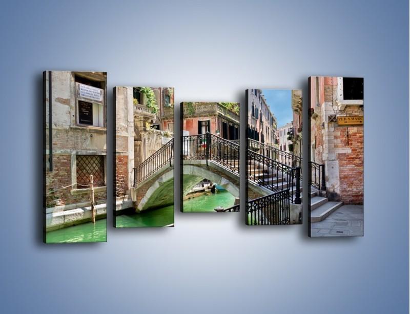 Obraz na płótnie – Wenecki most – pięcioczęściowy AM523W2