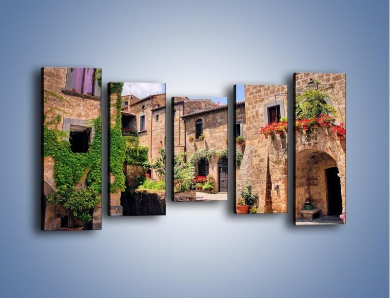 Obraz na płótnie – Romantyczna uliczka we Włoszech – pięcioczęściowy AM533W2
