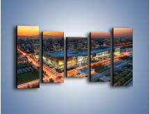 Obraz na płótnie – Centrum kongresowe CNCC w Chinach – pięcioczęściowy AM575W2