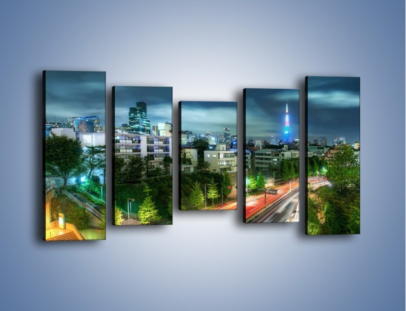 Obraz na płótnie – Miasto Roppongi w Japonii – pięcioczęściowy AM593W2