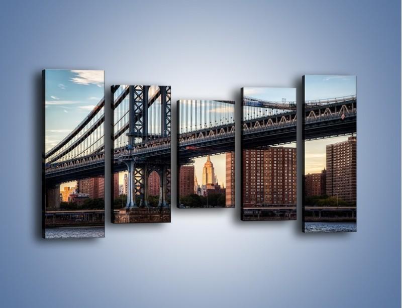 Obraz na płótnie – Manhattan Bridge – pięcioczęściowy AM607W2