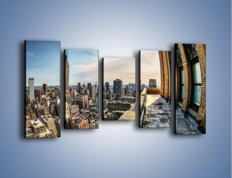 Obraz na płótnie – Empire State Building na Manhattanie – pięcioczęściowy AM610W2
