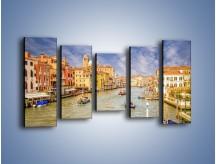 Obraz na płótnie – Canal Grande w Wenecji o poranku – pięcioczęściowy AM617W2