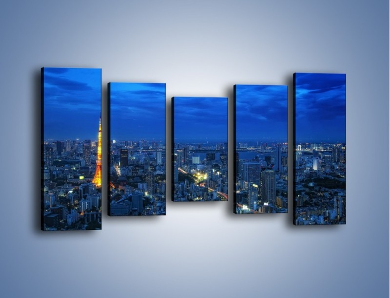 Obraz na płótnie – Tokyo Tower w Japonii – pięcioczęściowy AM621W2