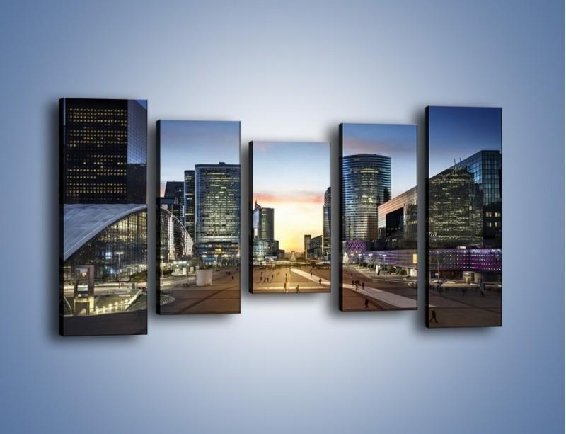 Obraz na płótnie – Quartier La Défense w Paryżu – pięcioczęściowy AM647W2