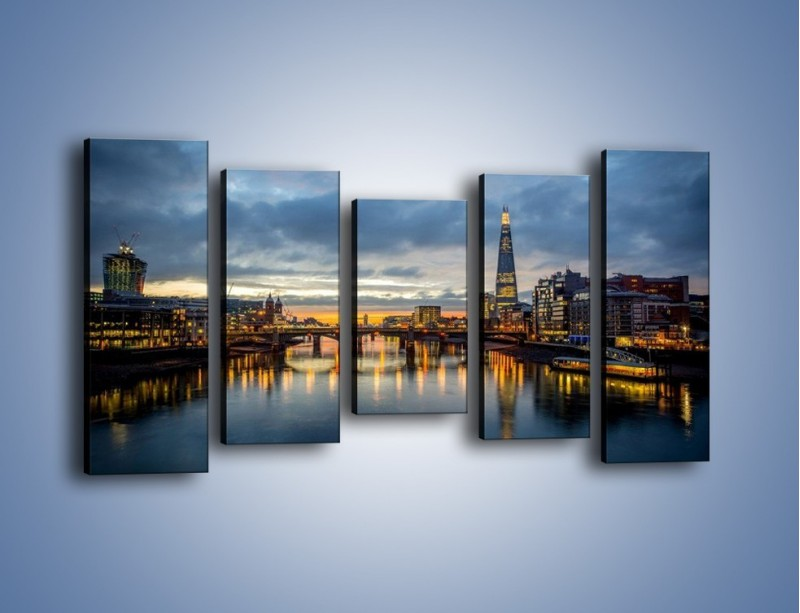 Obraz na płótnie – Millennium Bridge w Londynie – pięcioczęściowy AM651W2