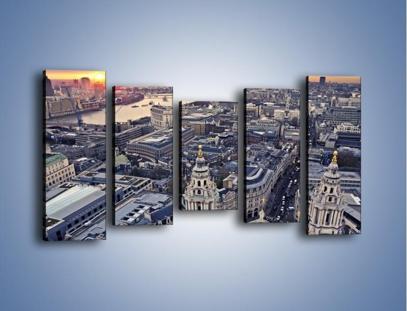 Obraz na płótnie – Widok na Londyn z Katedry św. Pawła – pięcioczęściowy AM652W2