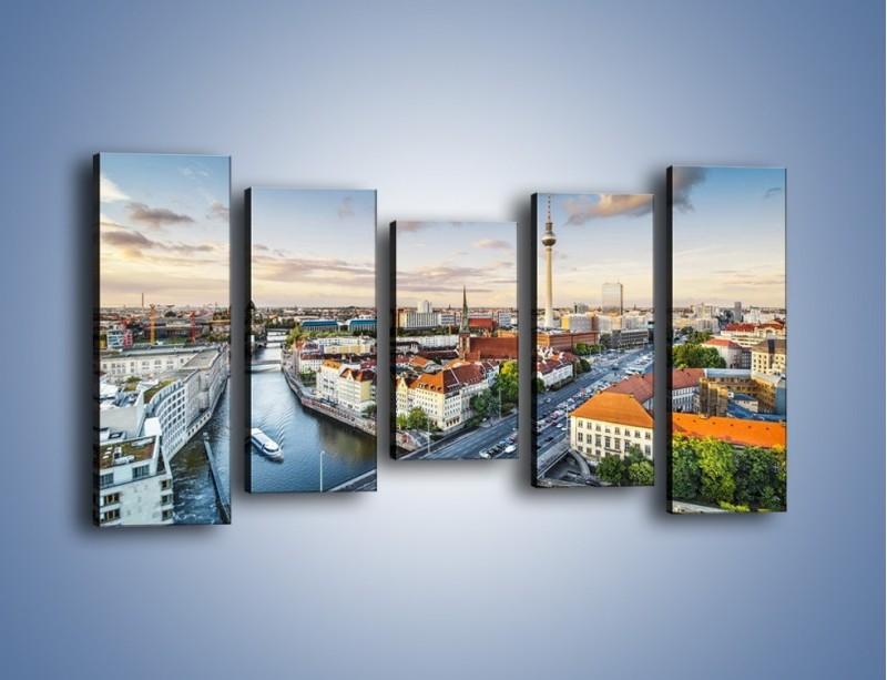 Obraz na płótnie – Panorama Berlina – pięcioczęściowy AM673W2