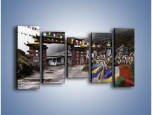 Obraz na płótnie – Brama do miasta Tawang w Tybecie – pięcioczęściowy AM689W2