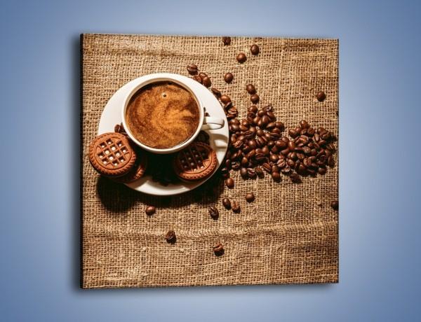 Obraz na płótnie – Kawowe słodkości na deser – jednoczęściowy kwadratowy JN676
