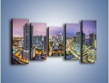 Obraz na płótnie – Centrum Miami – pięcioczęściowy AM702W2