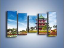 Obraz na płótnie – Chiński ogród w Singapurze – pięcioczęściowy AM715W2