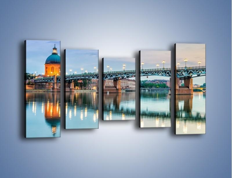 Obraz na płótnie – Most Saint-Pierre w Tuluzie – pięcioczęściowy AM721W2