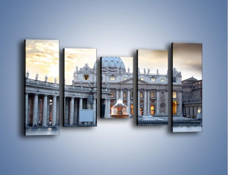 Obraz na płótnie – Bazylika św. Piotra w Watykanie – pięcioczęściowy AM722W2