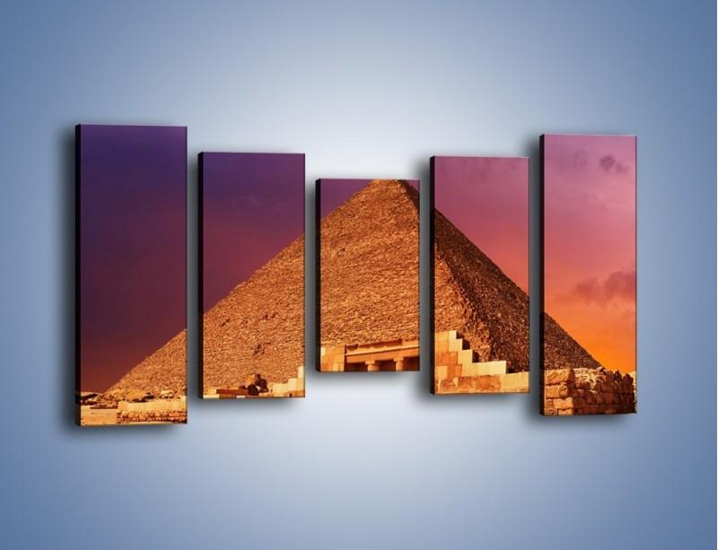 Obraz na płótnie – Piramida w Egipcie – pięcioczęściowy AM812W2