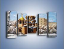 Obraz na płótnie – Cerkiew w trakcie zimy – pięcioczęściowy GR024W2
