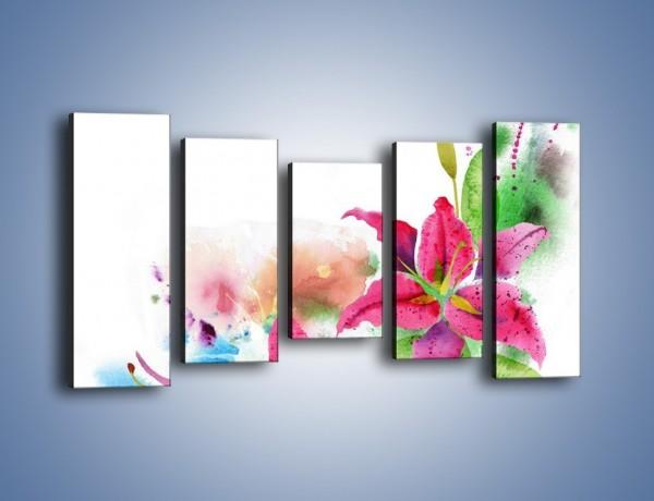 Obraz na płótnie – Kwiaty jak z bajki – pięcioczęściowy GR042W2