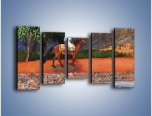 Obraz na płótnie – Arabski szejk na koniu – pięcioczęściowy GR052W2
