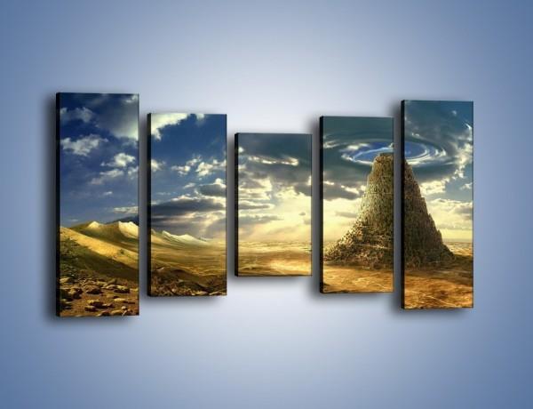 Obraz na płótnie – Przez górę aż do chmur – pięcioczęściowy GR139W2