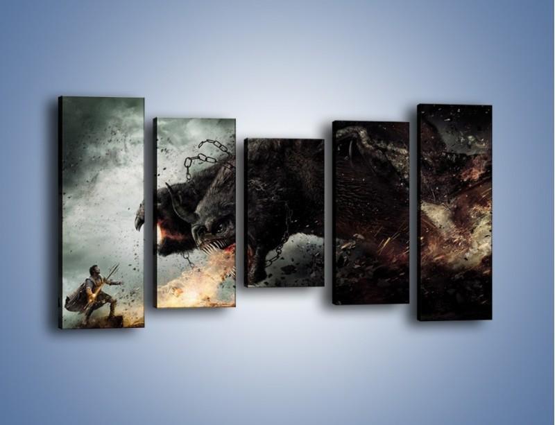 Obraz na płótnie – Groźny podmuch potworów – pięcioczęściowy GR174W2