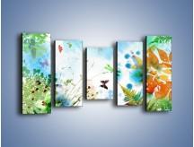 Obraz na płótnie – Baśniowa kraina w kolorach – pięcioczęściowy GR270W2