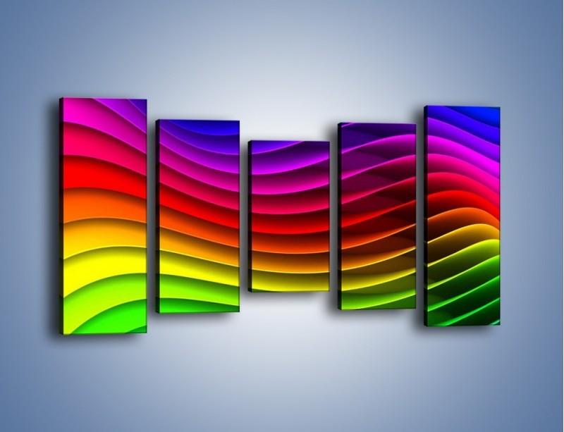 Obraz na płótnie – Falą w kolorze – pięcioczęściowy GR393W2