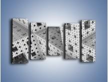 Obraz na płótnie – Budynki z klocków – pięcioczęściowy GR410W2