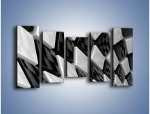 Obraz na płótnie – Czarne czy białe – pięcioczęściowy GR425W2