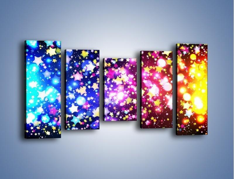 Obraz na płótnie – Kolory widziane nocą – pięcioczęściowy GR432W2