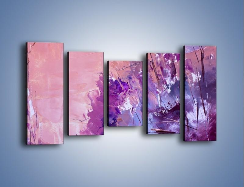 Obraz na płótnie – Mocna barwa fioletu – pięcioczęściowy GR472W2