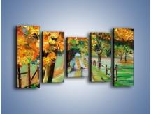 Obraz na płótnie – Aleją wśród drzew – pięcioczęściowy GR487W2