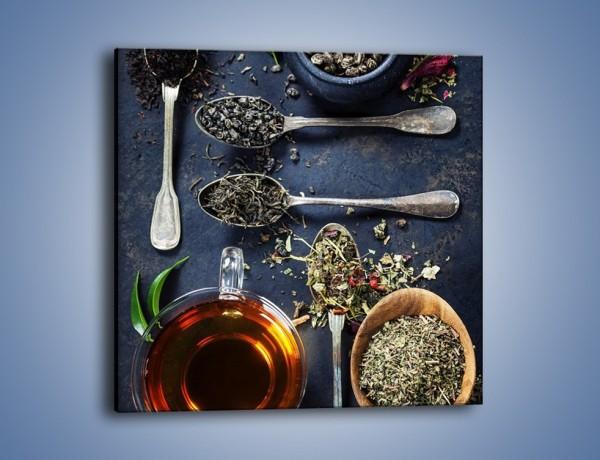 Obraz na płótnie – Herbata i smaki świata – jednoczęściowy kwadratowy JN686