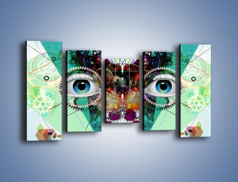 Obraz na płótnie – Mechanicznie otwarte oczy – pięcioczęściowy GR504W2