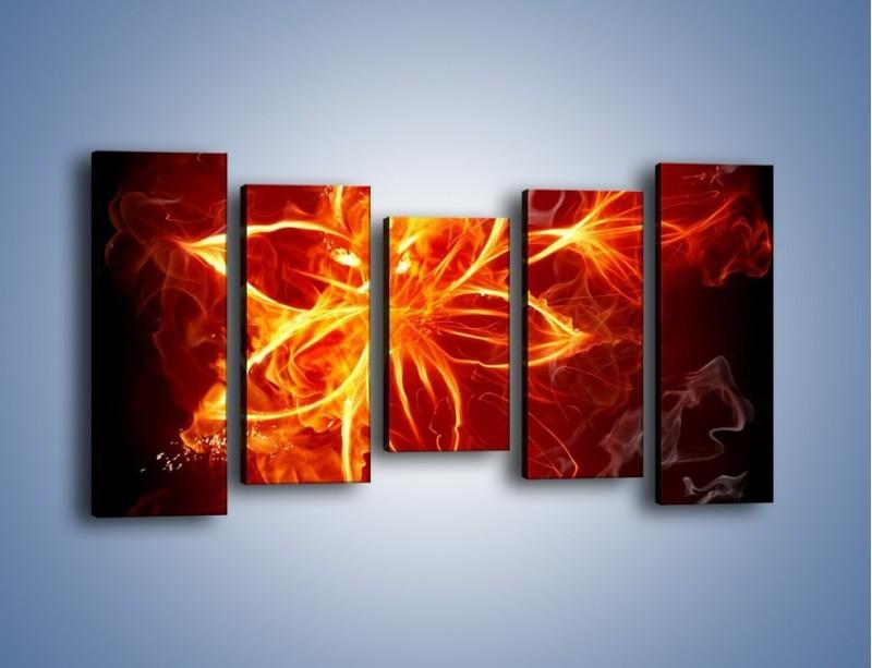 Obraz na płótnie – Spłonąć jak kwiat – pięcioczęściowy GR527W2