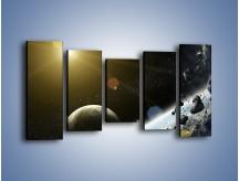 Obraz na płótnie – Dotrzeć między planety – pięcioczęściowy GR534W2