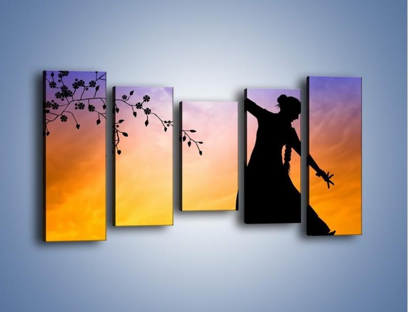 Obraz na płótnie – Wieczorny cygański taniec – pięcioczęściowy GR597W2