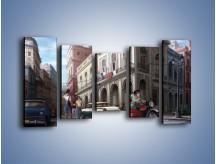 Obraz na płótnie – Codzienne życie na kubie – pięcioczęściowy GR627W2