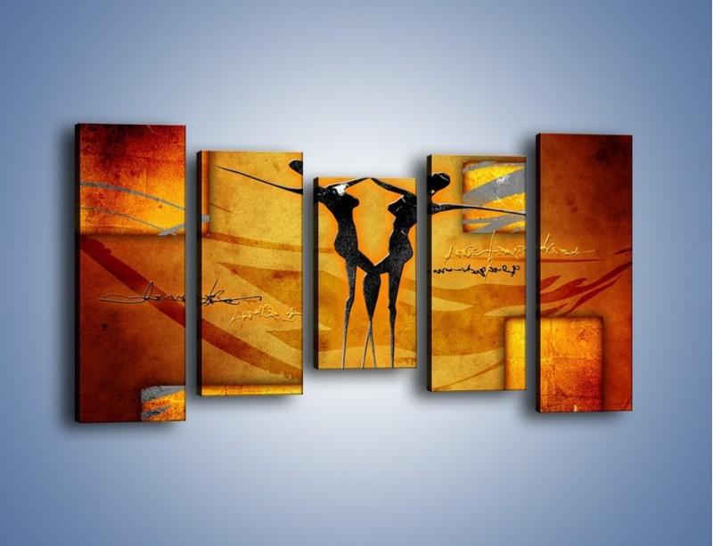 Obraz na płótnie – Dotyk w tańcu – pięcioczęściowy GR633W2