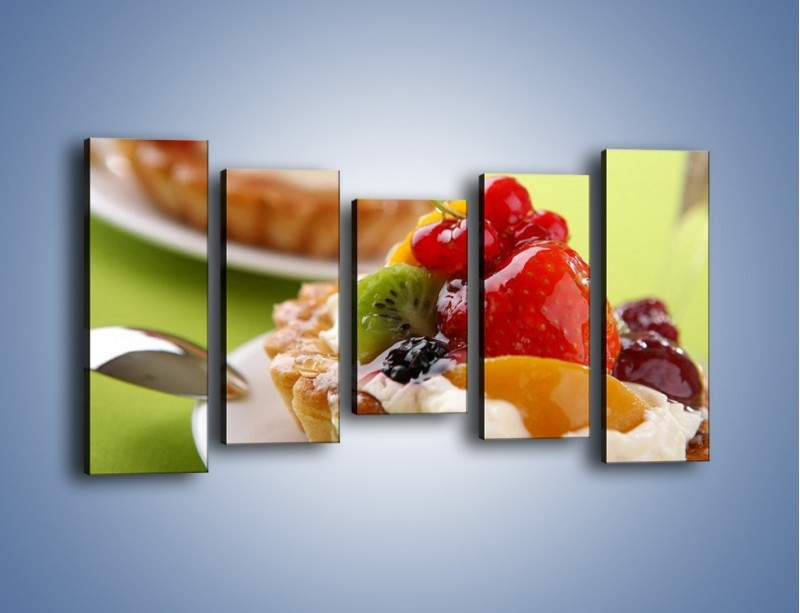 Obraz na płótnie – Owocowe babeczki z kremem – pięcioczęściowy JN021W2