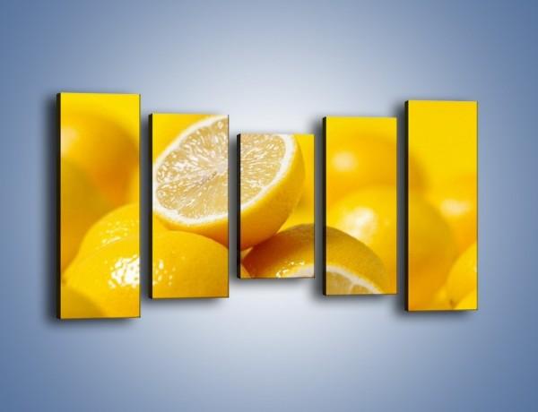 Obraz na płótnie – Kwaśne soczyste cytrynki – pięcioczęściowy JN031W2