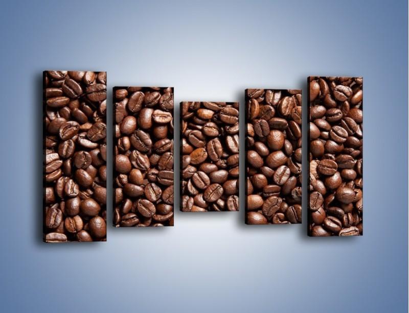 Obraz na płótnie – Ziarna świeżej kawy – pięcioczęściowy JN061W2