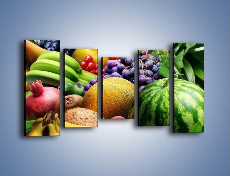 Obraz na płótnie – Stół pełen dojrzałych owoców – pięcioczęściowy JN072W2