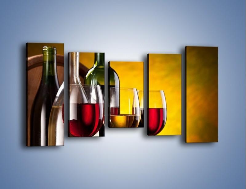 Obraz na płótnie – Wino z orzechami – pięcioczęściowy JN077W2