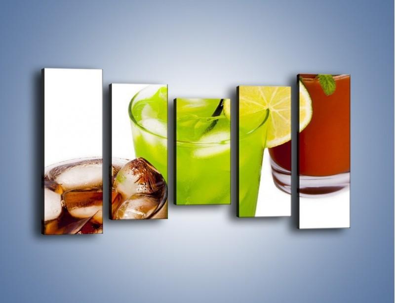 Obraz na płótnie – Kwaśno-słodkie drinki – pięcioczęściowy JN093W2